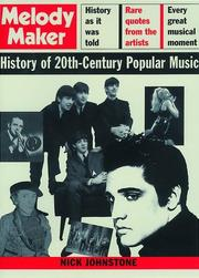 Cover of: Melody Maker history of 20th century popular music | Johnstone, Nick