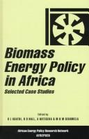 Cover of: Biomass Energy Policy in Africa | D. L. Kgathi