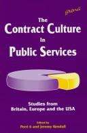 The Contract Culture in Public Services