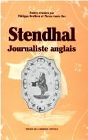 Cover of: Stendhal, journaliste anglais