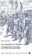 Cover of: Les patriotes de Belœil