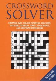 Cover of: Crossword Lists and Crossword Solver (Crossword)