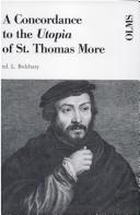 Cover of: A Concordance to the Utopia of St. Thomas More and a Frequency Word List (Alpha-Omega)