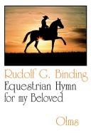 Cover of: Equestrian Hymn for My Beloved
