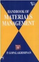 Cover of: Handbook of Materials Management