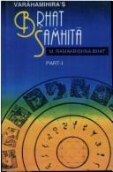 Cover of: Brhat Samhita of Varahamihira (2 Pts.)