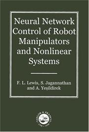 Cover of: Neural network control of robot manipulators and nonlinear systems