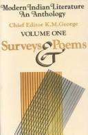 Cover of: Modern Indian Literature, An Anthology, Volume 1 Surveys and Poems