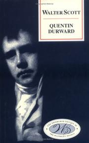 Quentin Durward by Sir Walter Scott