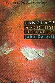 Cover of: Language and Scottish literature