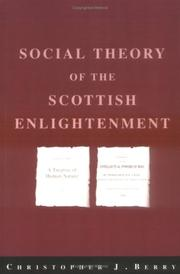 Cover of: Social theory of the Scottish Enlightenment