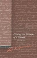 Cover of: Giving an account of oneself