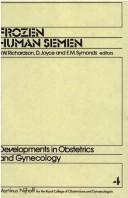Cover of: Frozen Human Semen (Developments in Obstetrics and Gynecology) |