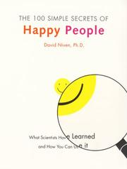 Cover of: The 100 simple secrets of happy people