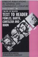 Cover of: Text to Reader