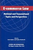 Cover of: E-Commerce Law |
