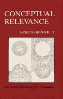 Cover of: Conceptual relevance