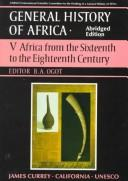 Cover of: General History of Africa: Africa from the Sixteenth to the Eighteenth Century (General History of Africa)