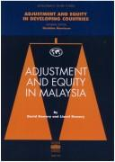 Cover of: Adjustment and equity in Malaysia | David Demery