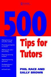 Cover of: 500 tips for tutors