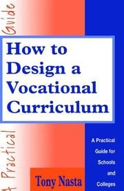 Cover of: How to design a vocational curriculum