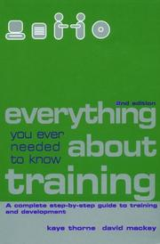 Everything you ever needed to know about training by Kaye Thorne
