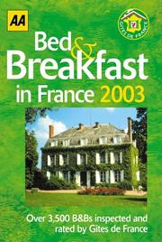 Cover of: Bed and Breakfast in France (AA Lifestyle Guides)