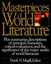 Cover of: Masterpieces of World Literature | Frank N. Magill