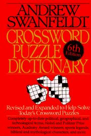 Cover of: Crossword puzzle dictionary | Andrew Swanfeldt