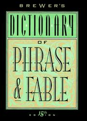Cover of: Brewer's Dictionary of Phrase & Fable (Brewer's Dictionary of Phrase and Fable)