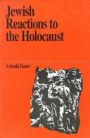 Cover of: Jewish Reactions to the Holocaust (Jewish Thought)