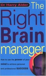 The right brain manager by Harry Alder