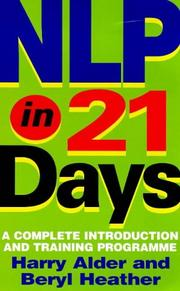 Cover of: Nlp in 21 Days | Harry Alder