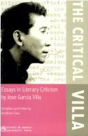 Cover of: The critical Villa