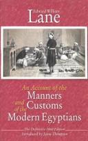 Cover of: An Account of the Manners and Customs of the Modern Egyptians (At Last--The Definitive Edition of the Classic)