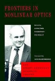 Cover of: Frontiers in nonlinear optics