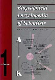 Cover of: Biographical Encyclopedia of Scientists, Second Edition - 2 Volume Set | Sarah Mitchell