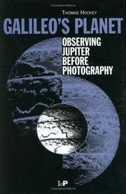 Cover of: Galileo's planet