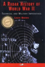 Cover of: A radar history of World War II by Louis Brown