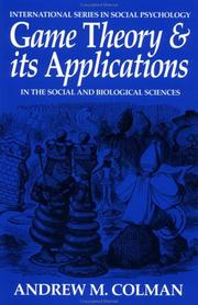Cover of: Game Theory and its Applications