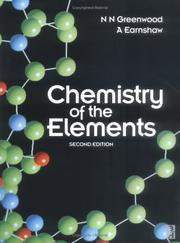 Cover of: Chemistry of the elements | N. N. Greenwood