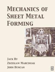 Cover of: Mechanics of sheet metal forming