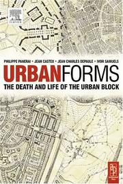 Cover of: Formes urbaines