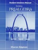 Cover of: Prealgebra | Sharon Edgmon
