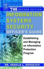 Cover of: The information systems security officer's guide