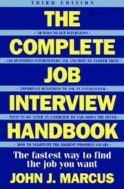 Cover of: The complete job interview handbook