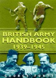 Cover of: British Army handbook, 1939-1945