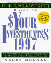 Cover of: Dun & Bradstreet Guide to $Your Investments$ 1997 (Serial)