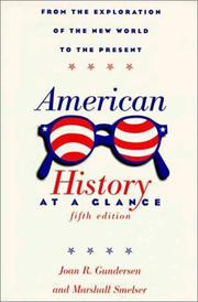 Cover of: American history at a glance