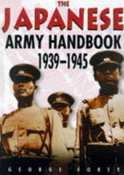 Cover of: Japanese Army handbook, 1939-1945